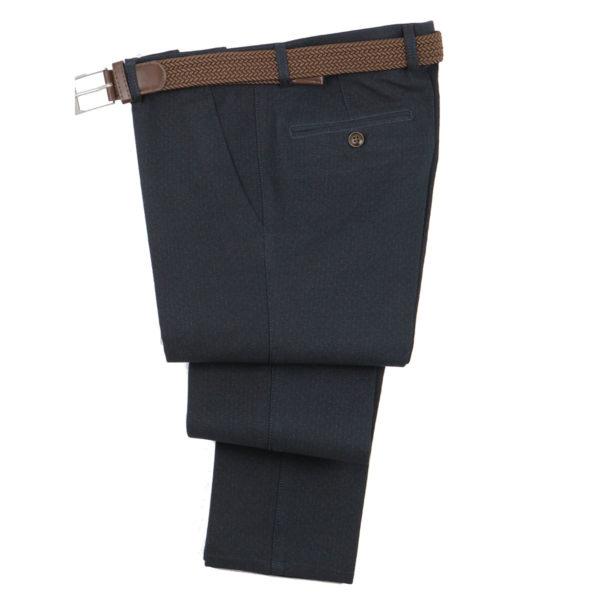 NEW YORK TAILORS 004.16.CHARM Ανδρικό Παντελόνι Μπλέ Σκούρο 3