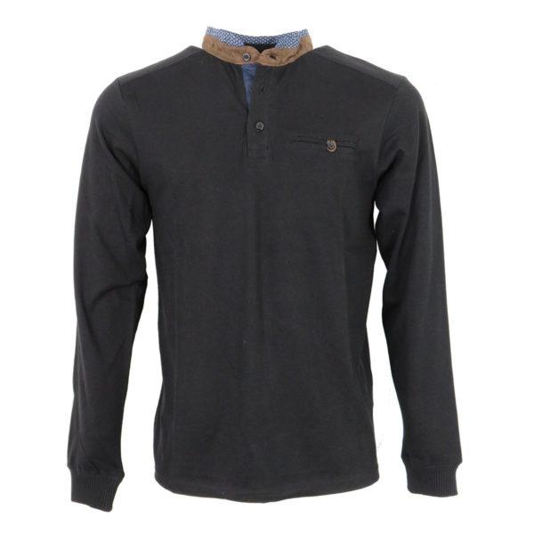 Clever CF -19100 Ανδρικό Μπλουζάκι Μαύρο Πόλο 3