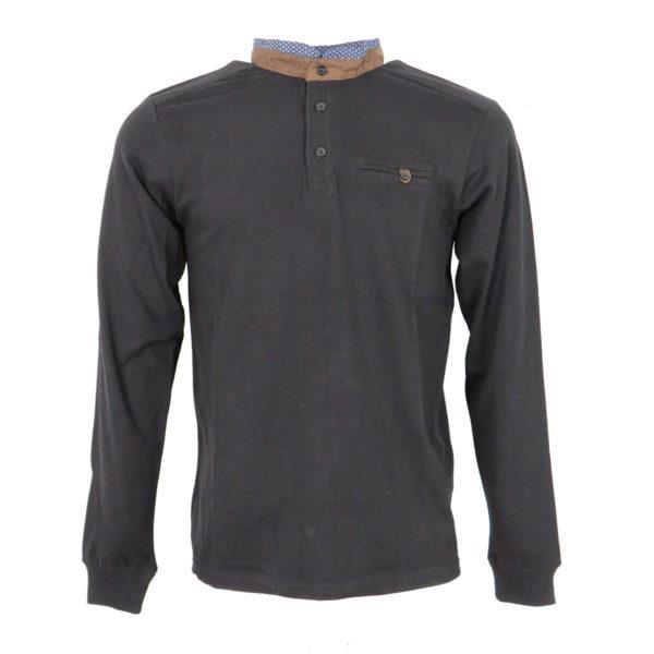Clever CF -19100 Ανδρικό Μπλουζάκι Μαύρο Πόλο 5