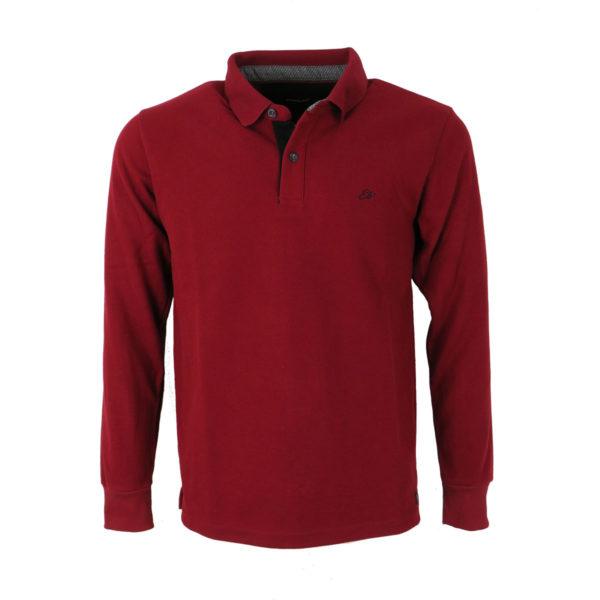 Everbest 200022RW Ανδρικό Μπλουζάκι Σκούρο Κόκκινο 3