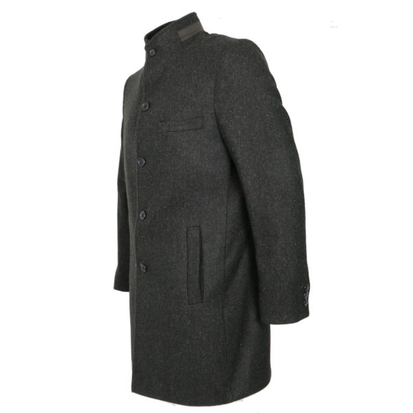 BRANDS 000 Ανδρικό Παλτό Μαύρο Τουίντ 4