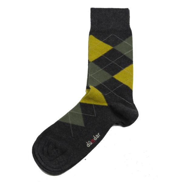 PRIVATO Με Ρόμβους Ανδρικές Κάλτσες Γκρι 3