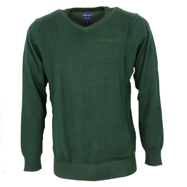 NEW WAVE NW-5016 Ανδρική Μπλούζα Πράσινη 3