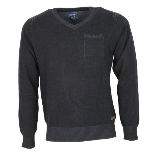 NEW WAVE NW-5016 Ανδρική Μπλούζα Μαύρη 3