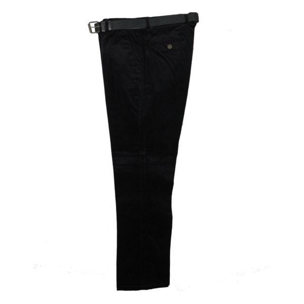 N.Y.TAILORS DARIUS Ανδρικό Παντελόνι Κοτλέ Μαύρο 3