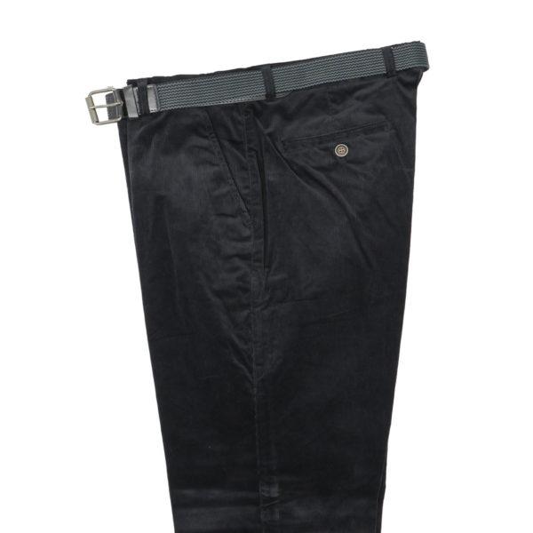 N.Y.TAILORS DARIUS Ανδρικό Παντελόνι Κοτλέ Μαύρο 4