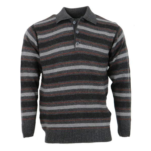 Privato 214 Ανδρική Μπλούζα Γκρί Σκούρο 3