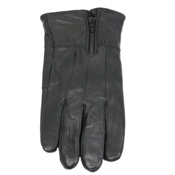 Privato TL-329 Ανδρικά Δερμάτινα Γάντια Μαύρο 3