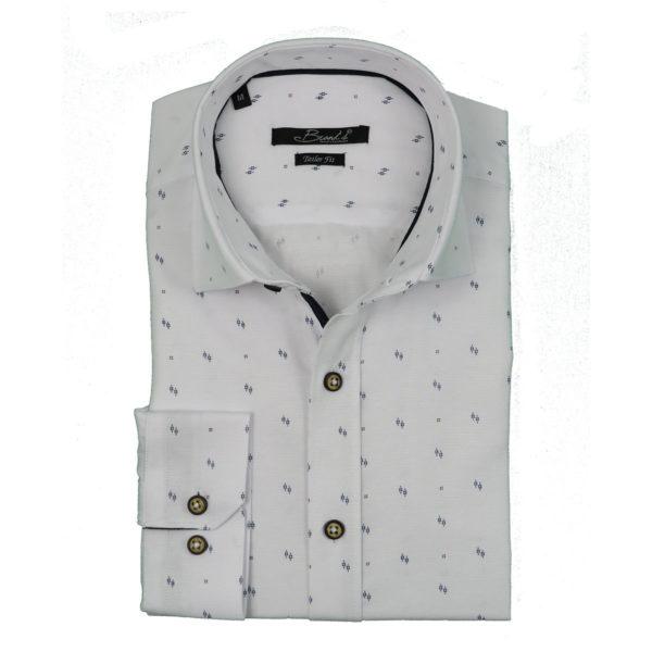 Brands P04 Ανδρικό Πουκάμισο Λευκό 3