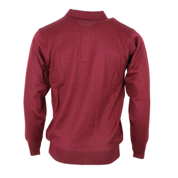 UNIQUE 210 Ρόμβος Ανδρική Μπλούζα Μπορντό 4