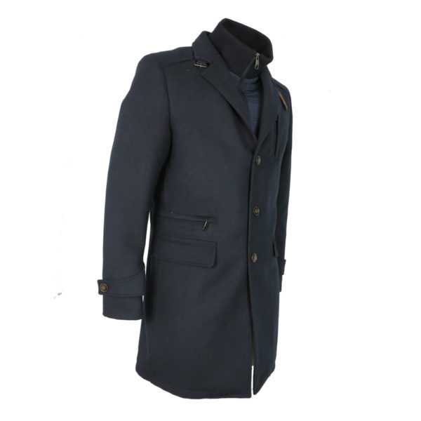 ORION 901CS05 Ανδρικό Παλτό Μπλέ Σκούρο 7