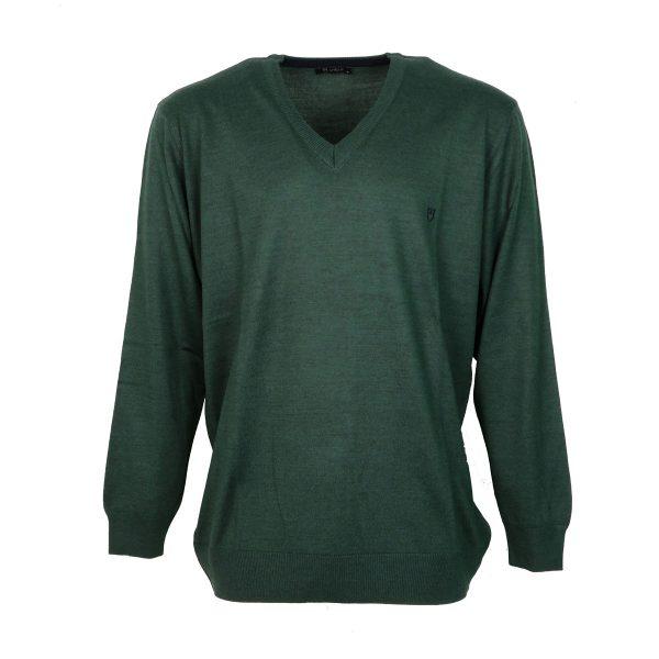 Unique 230 490 Ανδρικό Πλεκτό Πράσινο Σκούρο 4