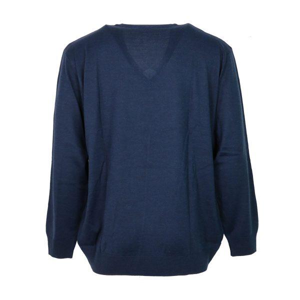 UNIQUE 230 490 Ανδρική Μπλούζα με Βέ Μπλέ-Ράφ 5