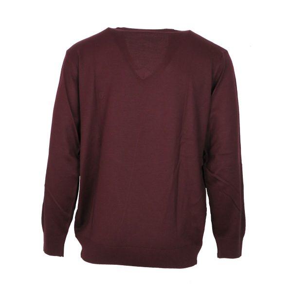 Unique 230 490 Ανδρική Μπλούζα  Με Βε Μπορντό 4
