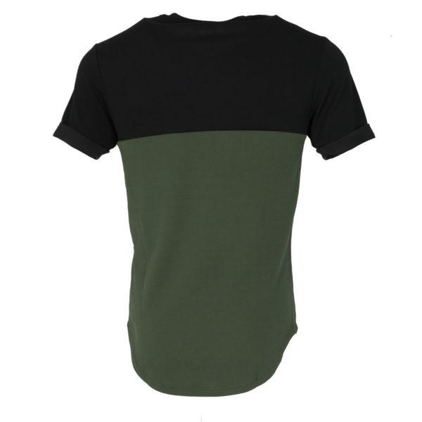 Privato Y1335 1308 Ανδρική Μπλούζα Μαύρο-Λαδί 4