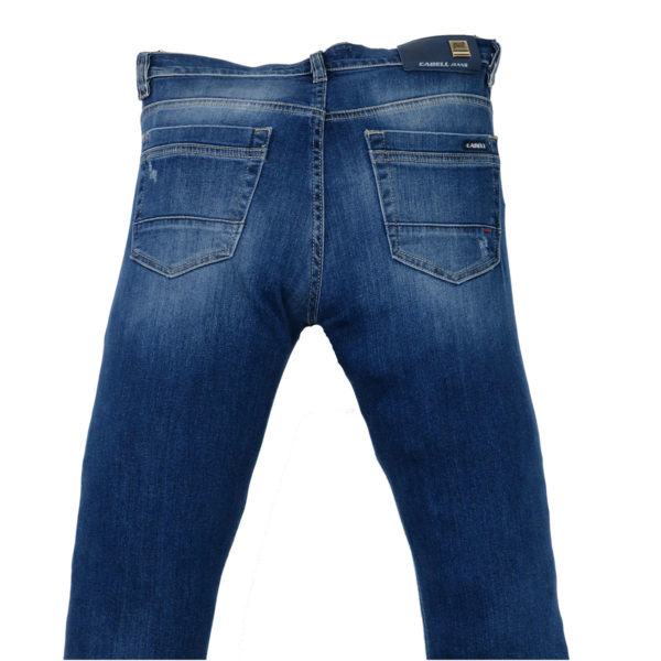 CABELL 317-D Ανδρικό Παντελόνι Τζίν Μπλέ 5