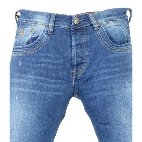 CABELL 335-1D Ανδρικό Παντελόνι Τζίν Μπλέ 4