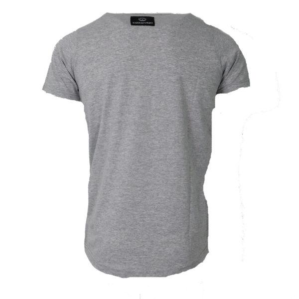 Cotton 4All 20- 918 Ανδρικό Μπλουζάκι Γκρι Μελ 4