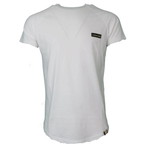 Cotton 4All 20-934 Ανδρικό Μπλουζάκι Λευκό 3