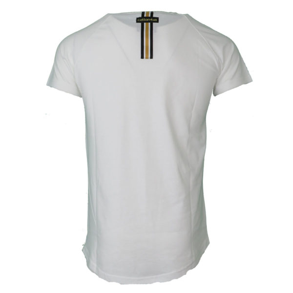 Cotton 4All 20-934 Ανδρικό Μπλουζάκι Λευκό 4