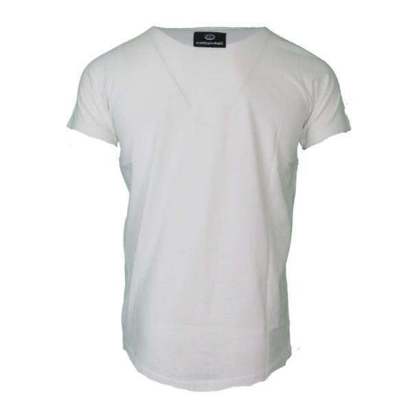 Cotton 4All 20-917 Ανδρικό Μπλουζάκι Λευκό 4