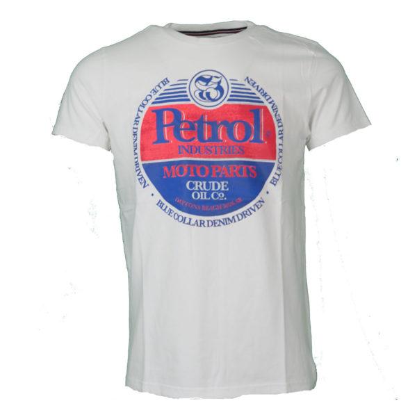 Petrol M-1000-TSR600 0000 Ανδρικό Μπλουζάκι Λευκό 3