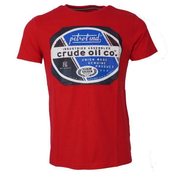 Petrol M-1000-TSR607 3136 Ανδρικό Μπλουζάκι Κόκκινο 3