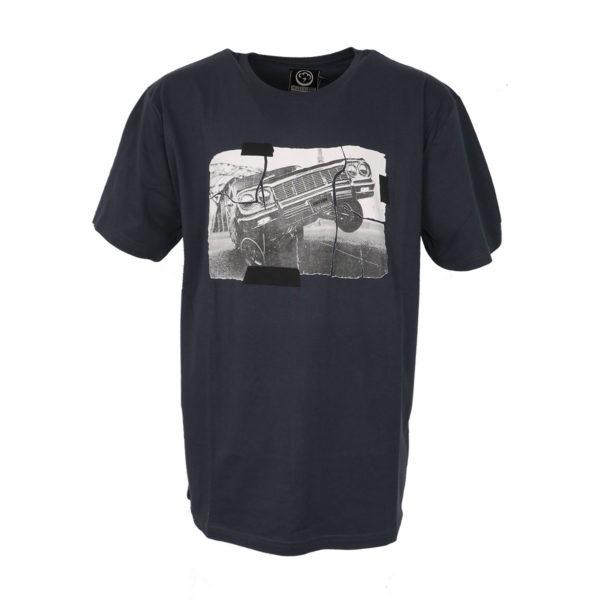 Cotton 4All 18-588 Ανδρική Μπλούζα Γκρί Σκούρο Big Size 3