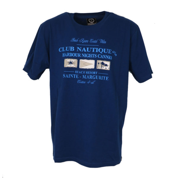 Cotton 4All 18-587 Ανδρική Μπλούζα Big Size  Μπλε Ρουά 3