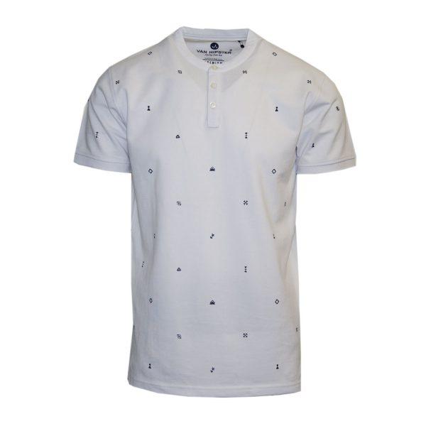Van Hipster 71793-02 Ανδρική Μπλούζα Λευκό 3