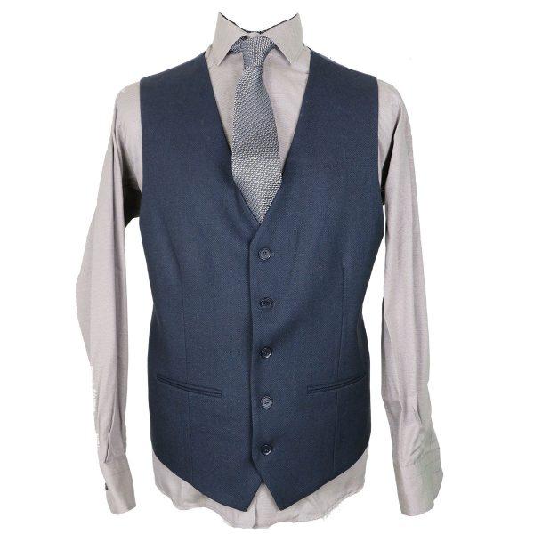 New York Tailors 014.16 BIAGGIO Ανδρικό Γιλέκο Μπλέ 3