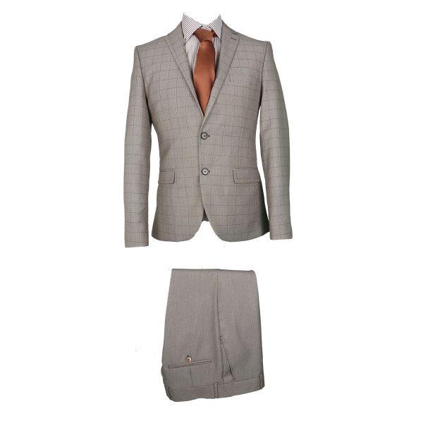 Caballeros 163 Ανδρικό Κοστούμι Μπεζ Σκούρο 3
