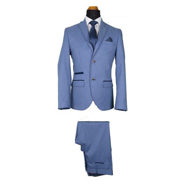Alter Ego 2505/901 Ανδρικό Κοστούμι Σιέλ 5