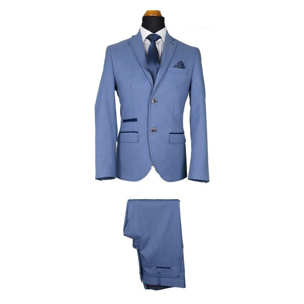 Alter Ego 2505/901 Ανδρικό Κοστούμι Σιέλ 3
