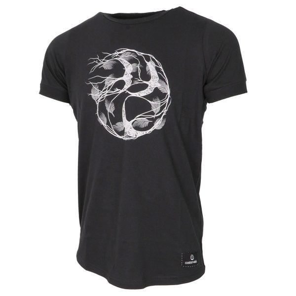 Cotton 4All 20-963 Aνδρικό Μπλουζάκι Μαύρο Big Size 4