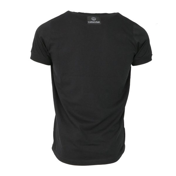 Cotton 4All 20-963 Aνδρικό Μπλουζάκι Μαύρο Big Size 5