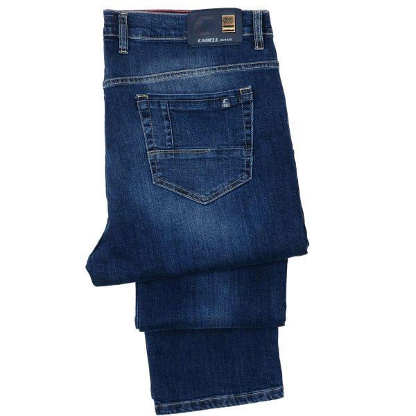 Cabell 1338-6F Ανδρικό Τζίν Παντελόνι Big Size Μπλέ 6