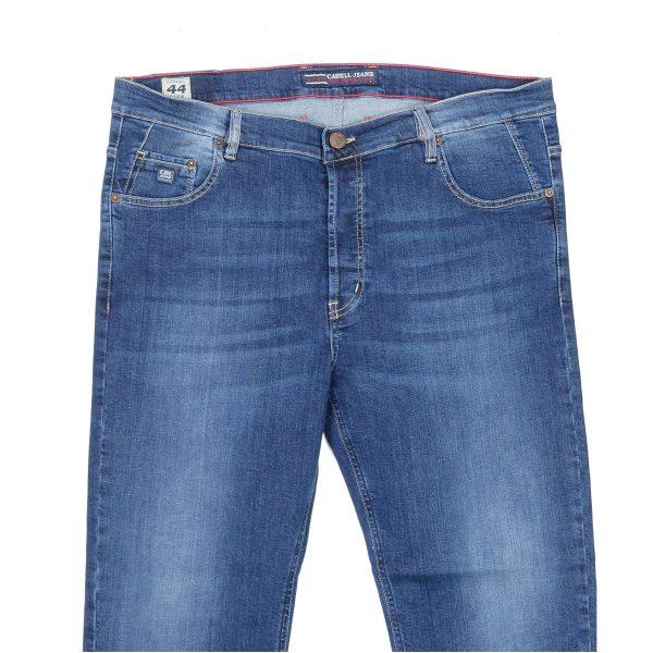 Cabell 1338-6F Ανδρικό Τζίν Παντελόνι Big Size Μπλέ 4
