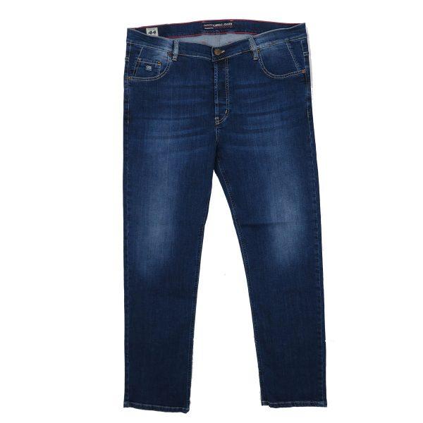 Cabell 1338-6F Ανδρικό Τζίν Παντελόνι Big Size Μπλέ 5
