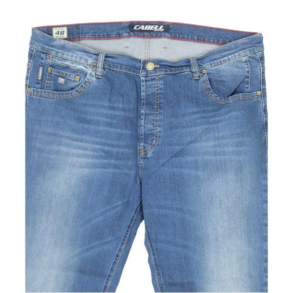 Cabell 1340-1F Ανδρικό Τζίν Παντελόνι Μπλέ Big Size 4