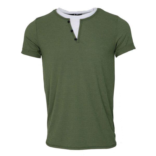 Privato Y5516 Ανδρικό Μπλουζάκι Λαδί 3