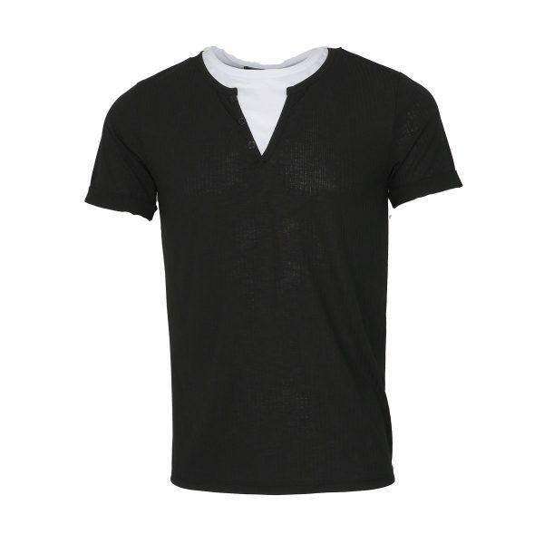Privato Y5516 Ανδρικό Μπλουζάκι Μαύρο 3