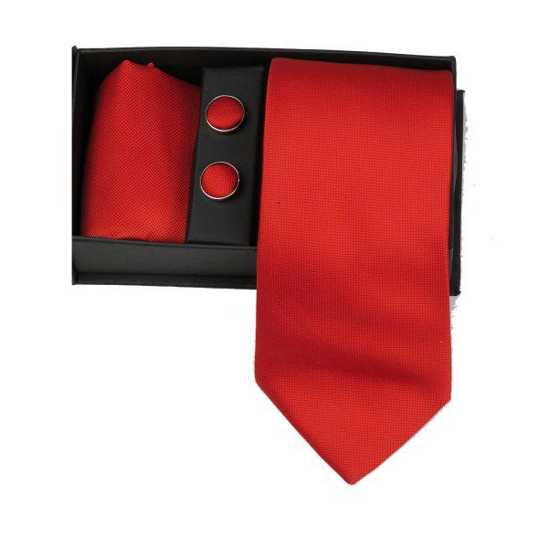 Privato 81 Ανδρική Γραβάτα Κόκκινο 3