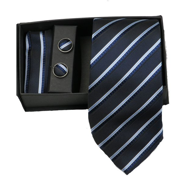 Privato 87 Ανδρική Γραβάτα Μπλέ 3