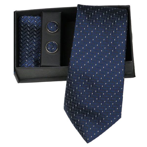 Privato 88 Ανδρική Γραβάτα Μπλέ 3