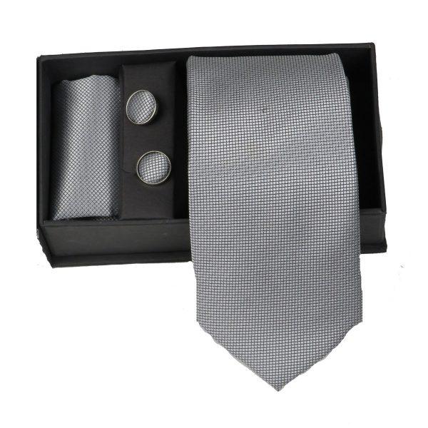 Privato 83 Ανδρική Γραβάτα Γκρί Ανοιχτό 3