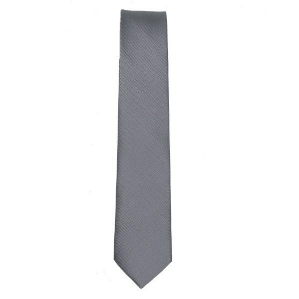 Privato 95 Ανδρική Γραβάτα Γκρι Ασημί 3