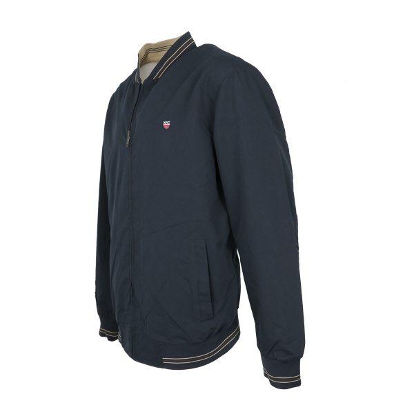 New York Tailors 022.17.CELSO Ανδρικό Μπουφάν Μπλέ/Μπέζ Big Size 4