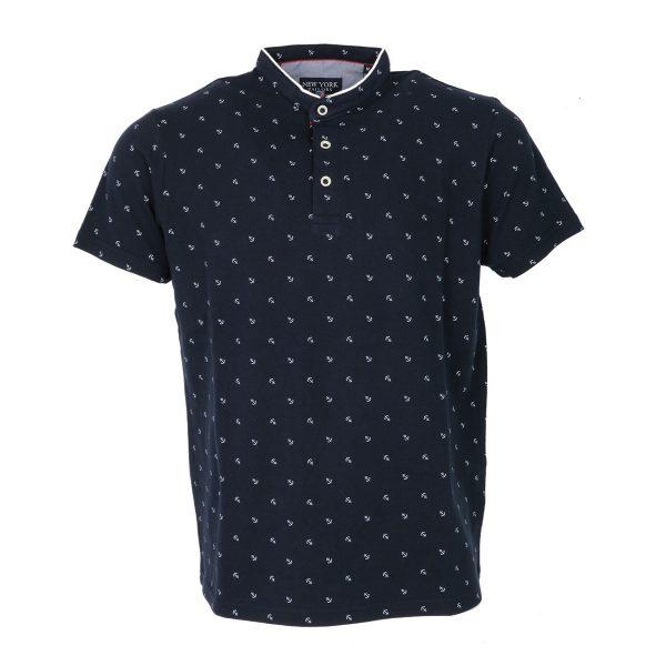 New York Tailors 011.17.Jason Ανδρική Μπλούζα Μάο Μπλέ 3