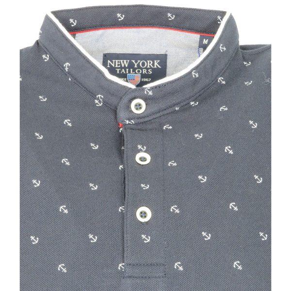 New York Tailors 011.17.Jason Ανδρική Μπλούζα Μάο Μπλέ 5